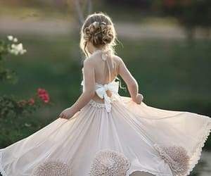ceremony, fashion, and flower girl image