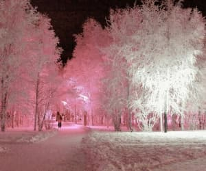 beautiful, winter, and pink image