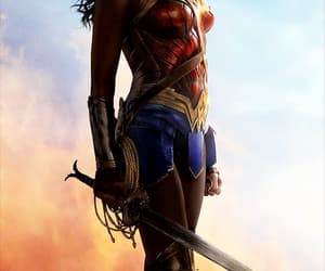 wonder woman, wow, and art image