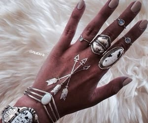 bangle, bohemian, and nails image