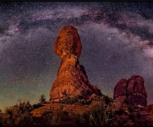 arch, canyon, and milky way image