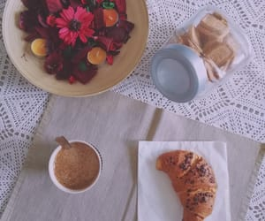 aesthetic, brioche, and coffee image