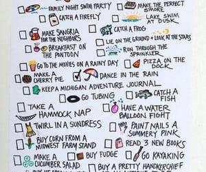 summer and bucket list image