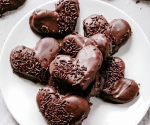 chocolate, food, and hearts image