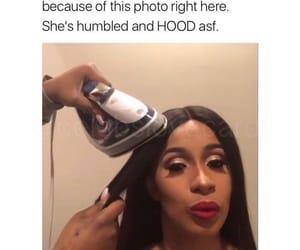 funny, meme, and cardi b image