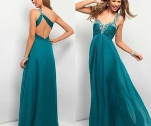prom dress, one shoulder prom dress, and chiffon prom dress image