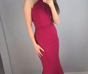 dress, prom dress, and selfie image