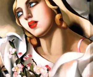 art deco, mujer, and arte image