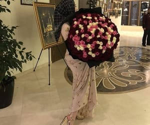 flowers, heels, and hijab image