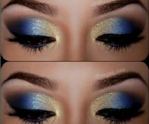 azul, maquillaje, and blue image
