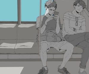 haikyuu, iwaoi, and oikawa tooru image