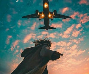 planes, sky, and travel image