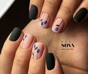 black nails, yay, and nails image