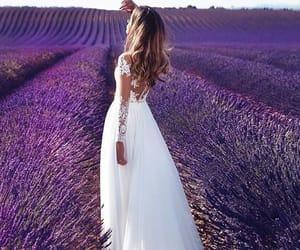 dress, beautiful, and flowers image