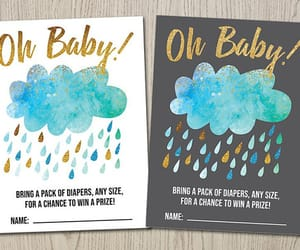 etsy, diaper raffle ticket, and cloud baby shower image