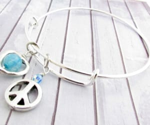 charm bracelet, etsy, and bangle bracelet image