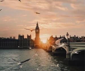 london, sunset, and travel image