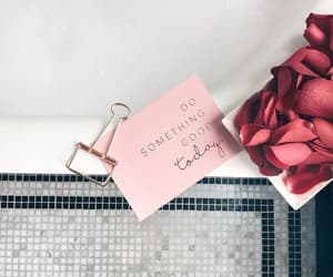 bath, roses, and beauty image