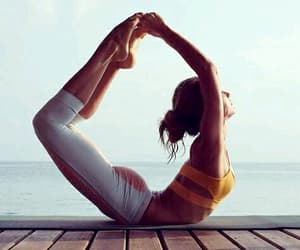 yoga, girl, and fitness image