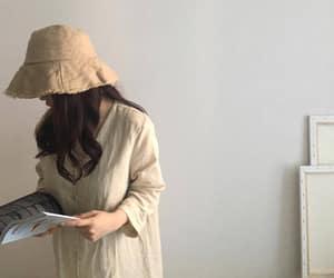 asian fashion, korean fashion, and aestheitc beige image