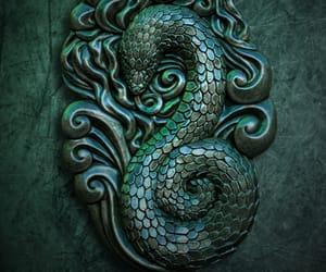 slytherin, harry potter, and snake image