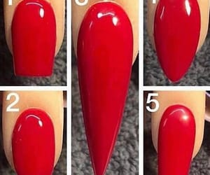 red and nail design image