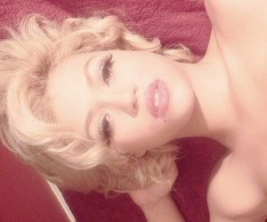 Marilyn Monroe, lips, and blonde image