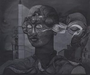 drawing, modern artist, and oil paintings image