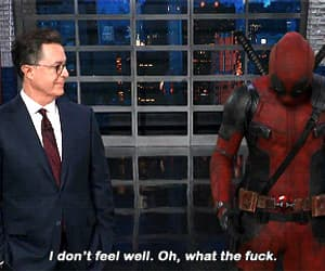 Avengers, deadpool, and stephen colbert image