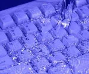 aesthetic, keyboard, and water image
