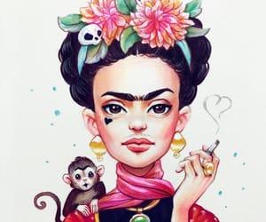 art, Frida, and illustration image