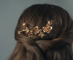 flowers, hair, and jewelry image