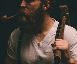 beard, lumberjack, and man image