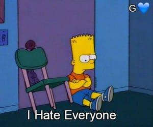 sad, bart, and the simpsons image