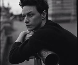 james mcavoy, black and white, and actor image