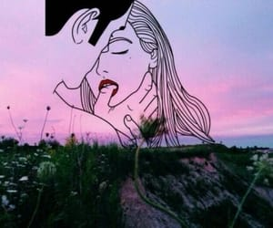 art, lust, and sunset image