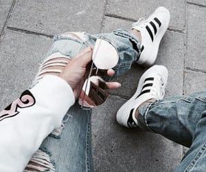 adidas, fashion, and sunglasses image