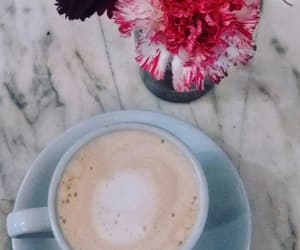 cafe, fresh flowers, and coffee image