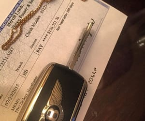 car, gold, and money image