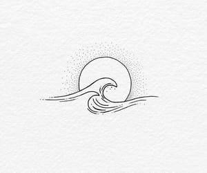waves, art, and sun image