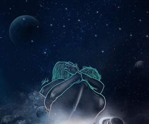 hug, love, and galaxy image