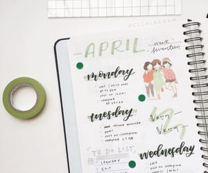 april, college, and green image