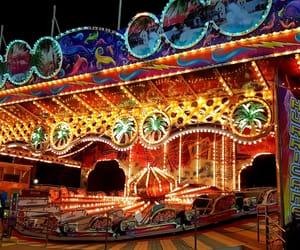 amusement park, boardwalk, and color image