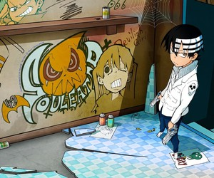 graffiti, death the kid, and soul eater image