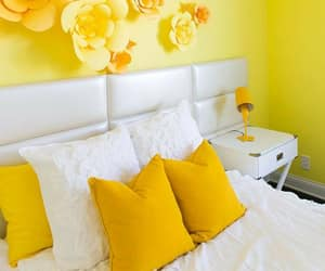 bed room, color, and decor image