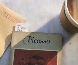 book, picasso, and coffee image