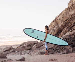 beach, coast, and girl image
