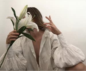 depression, model, and flowers image