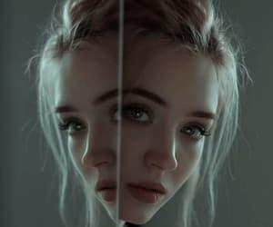 mirror, girl, and loira image