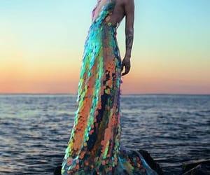 dress, mermaid, and sea image